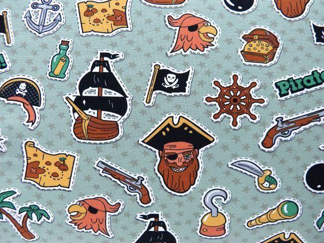 1d77f383eb8ce Jersey Öko Tex Piraten grün