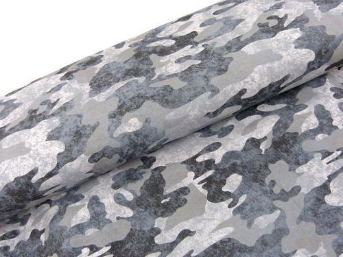 Sommer Sweat Camouflage grau