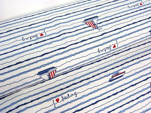 Canvas Love Sailing weiß blau